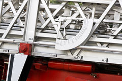 Fire truck angle meter Royalty Free Stock Photography