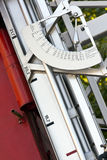 Fire truck azimuth disk Royalty Free Stock Photography