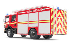 Fire truck back isolated. See my other works in portfolio Royalty Free Stock Photos