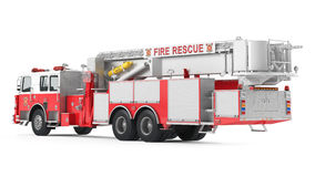 Fire truck back isolated Stock Images