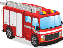 Fire truck cartoon illustration. Fire truck  cartoon illustration Royalty Free Stock Photography