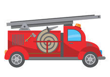 Fire truck cartoon. Stylized drawing of Fire Truck. Vector illustration Stock Image