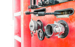 Fire truck close up equipment Stock Images