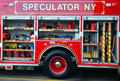 Fire truck details Stock Photo
