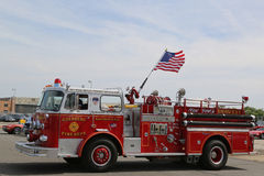 Fire truck on display at the Antique Automobile Association of Brooklyn annual Spring Car Show Royalty Free Stock Images