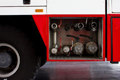 Fire truck emergency protection Stock Photography
