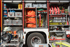 Fire Truck Equipment Stock Photo
