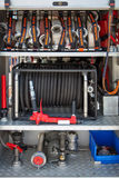 Fire truck equipment Stock Photo