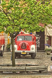 Fire truck and equipment at Fireman's Day Royalty Free Stock Images
