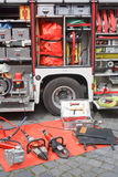 Fire Truck Equipment Stock Image