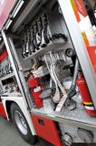 Fire truck with equipment Stock Photo