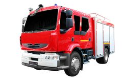 Fire truck front view isolated Royalty Free Stock Image