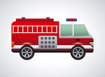 Fire truck. Graphic design , vector illustration Royalty Free Stock Photos