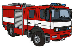 Fire truck. Hand drawing of a fire truck - not a real type Stock Photos