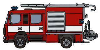 Fire truck. Hand drawing of a fire truck - not a real type Royalty Free Stock Image