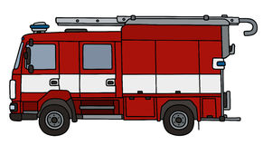 Fire truck. Hand drawing of a fire truck - not a real type Royalty Free Stock Photo