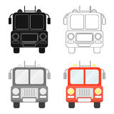 Fire truck icon cartoon. Single silhouette fire equipment icon from the big fire Department cartoon - stock vecto -. Fire truck icon cartoon style. Single Stock Photo