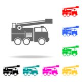 Fire truck icon. Element firefighters multi colored icons for mobile concept and web apps. Icon for website design and development. App development. Premium Royalty Free Stock Photography