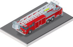 Fire truck ISO. Isometric view of a Fire truck Stock Images