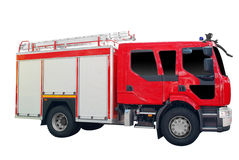 Fire truck isolated. On white background royalty free stock images