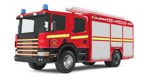 Fire truck isolated Royalty Free Stock Photography