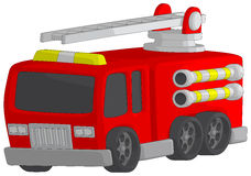 Fire Truck. Isolated on a white background Royalty Free Stock Images