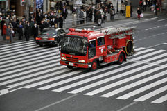 Fire Truck in Japan Stock Photos