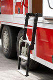 Fire truck ladder Stock Photo