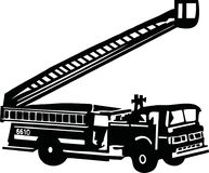 Fire truck with ladder. Vector Royalty Free Stock Photography