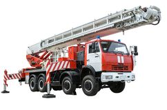Fire truck ladder Stock Images
