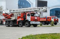 Fire truck ladder Royalty Free Stock Images
