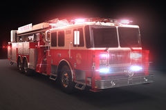 Fire truck with lights. Part of a first responder series Stock Photography