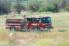 Fire truck during Los Angeles American Heroes Air Show Royalty Free Stock Photography