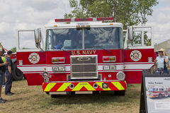 Fire Truck marked US Navy Pearl Harbor Front Royalty Free Stock Photography