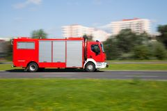 Fire truck in motion blur Stock Photography