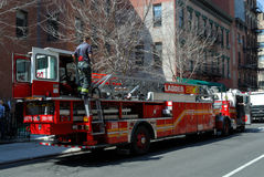 Fire truck in New York City Royalty Free Stock Photo