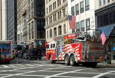 Fire truck in New York City Royalty Free Stock Photos