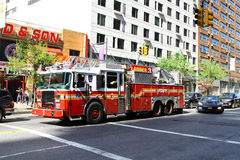 Fire truck in New York City Stock Photo