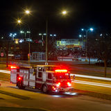 Fire truck  at night Royalty Free Stock Photos