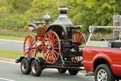 Fire Truck Parade 3. An antique fire department vehicle on display during a fire muster parade Royalty Free Stock Images