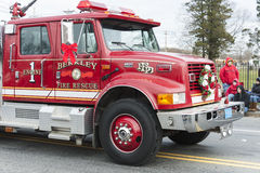 Fire truck in parade Royalty Free Stock Photography