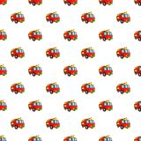 Fire truck pattern, cartoon style Stock Images