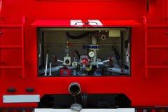 Fire truck. Pumping equipment. Stock Image
