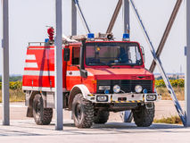 Fire truck ready for intervention Royalty Free Stock Image