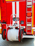 Fire truck, rear view Royalty Free Stock Image