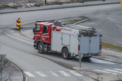 Fire Truck on the road Royalty Free Stock Image