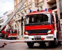 Fire Truck on Scene Stock Images