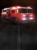 Fire truck on scene with lights Royalty Free Stock Photos