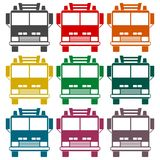 Fire truck, Fire station icon set. Vector icon Royalty Free Stock Photography