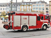 Fire truck on street Royalty Free Stock Photos
